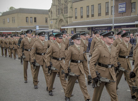 Rifles Freedom of Wakefield and Leeds 15 Sep 10 - Form-up Timings and Locations