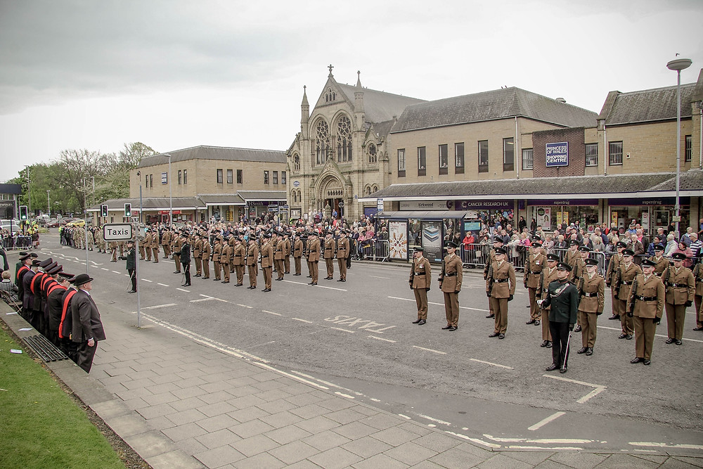 Rifles Freedom of Dewsbury 29 April 2017
