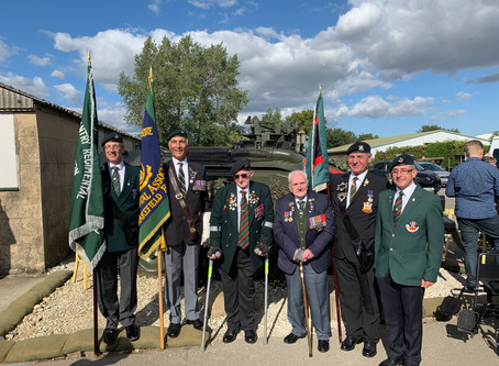 KOYLI Normandy Veteran Fred Adamson is a VIP at Eden Camp Parade