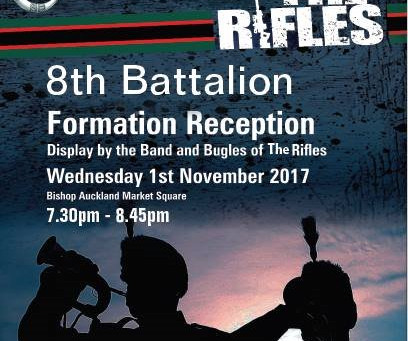 8RIFLES Formation Day Display in Bishop Auckland - 01 Nov 2017