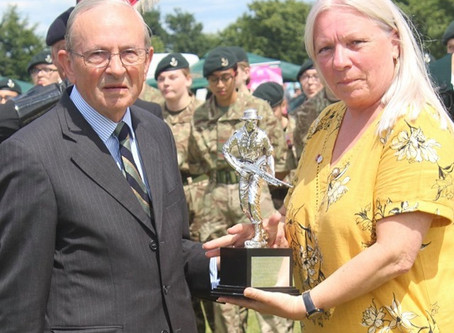 KOYLI Memorial Silver Statuette Presented to the People of Pontefract