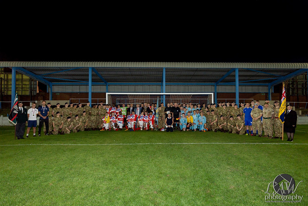 Youth Football Teams from Ossett and Army Foundation College Harrogate