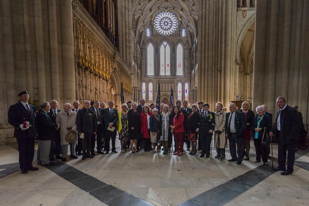 Rifles, LI & KOYLI Assn members in York Minster Oct 2016