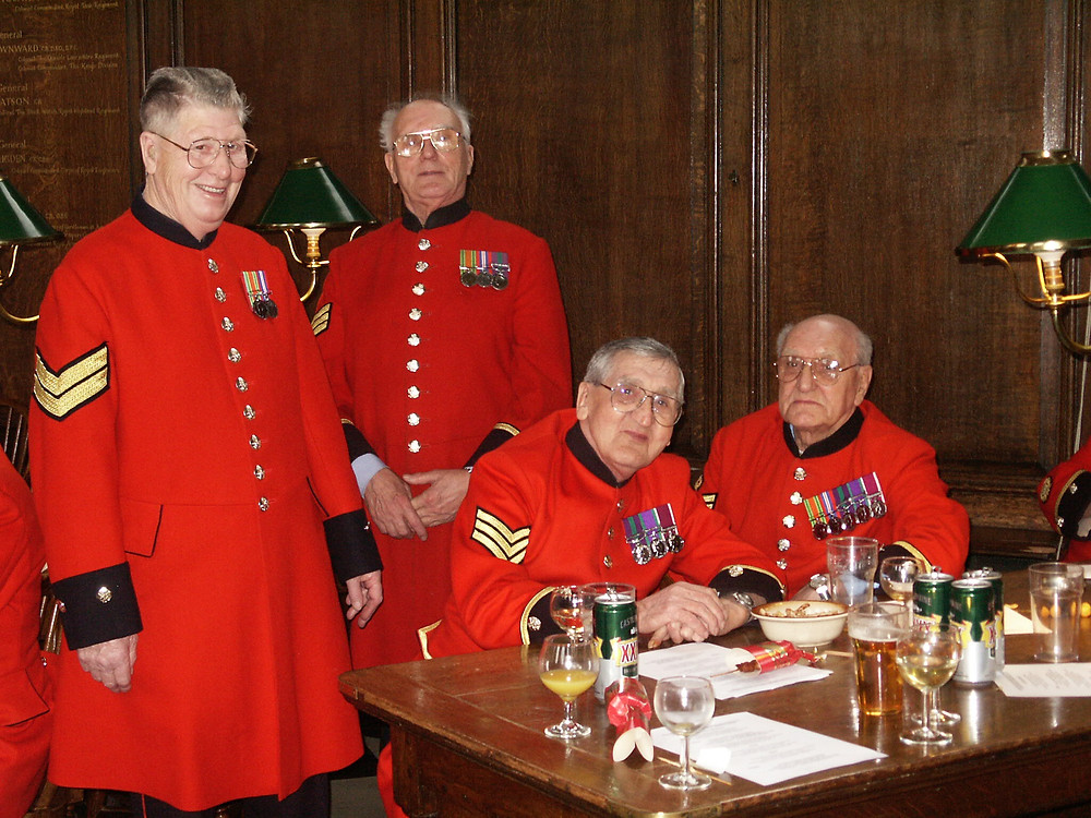 Don Lochrie with other Chelsea Pensioners
