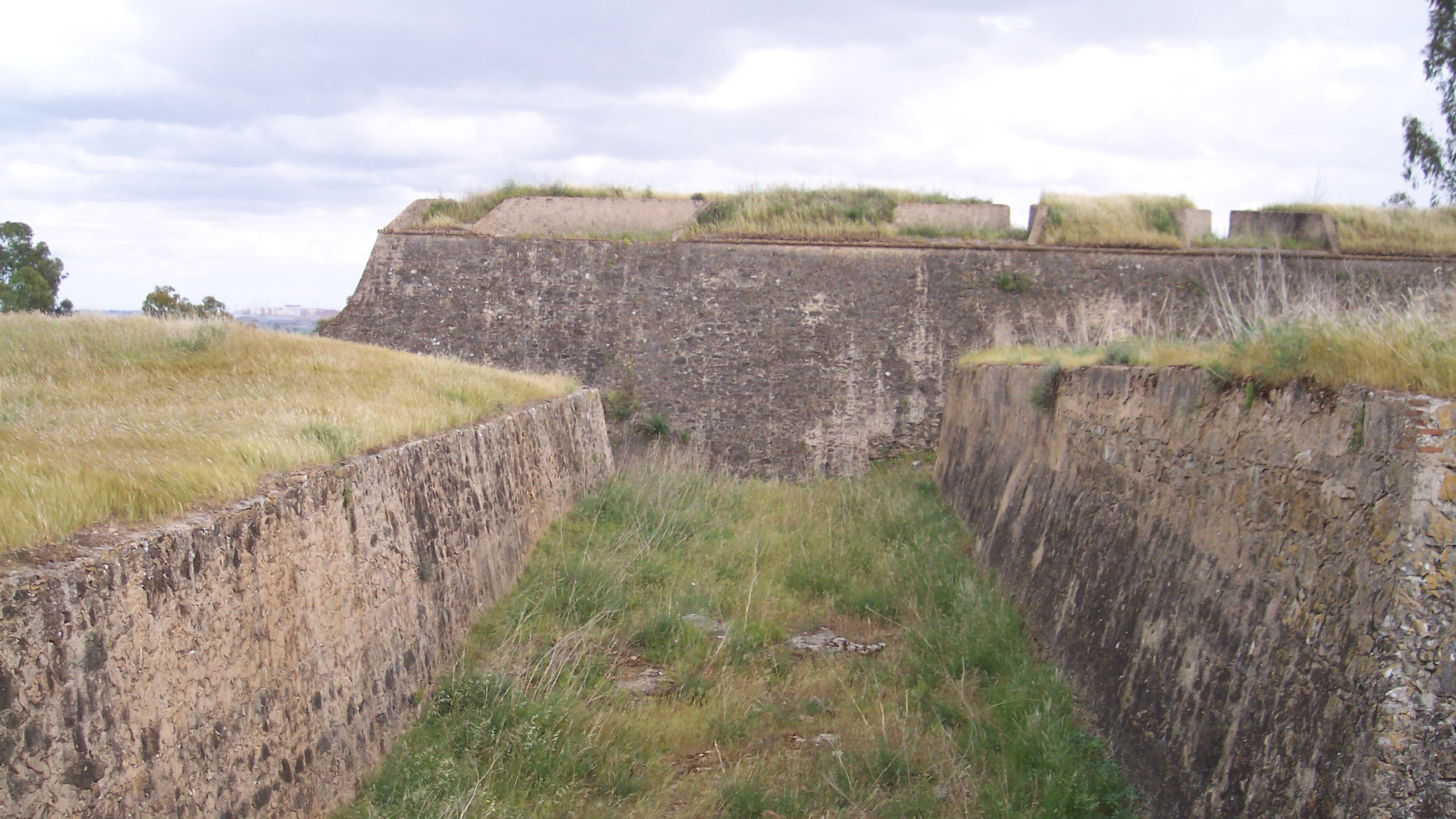 Ditch, ravelin, fort