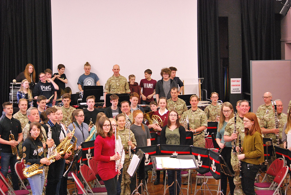 Rifles Band Music Workshop with Wakefield Schools Music 26 April 2017