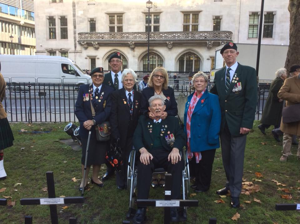 Association members at the opening of Field of Remembrance Westminster 2018