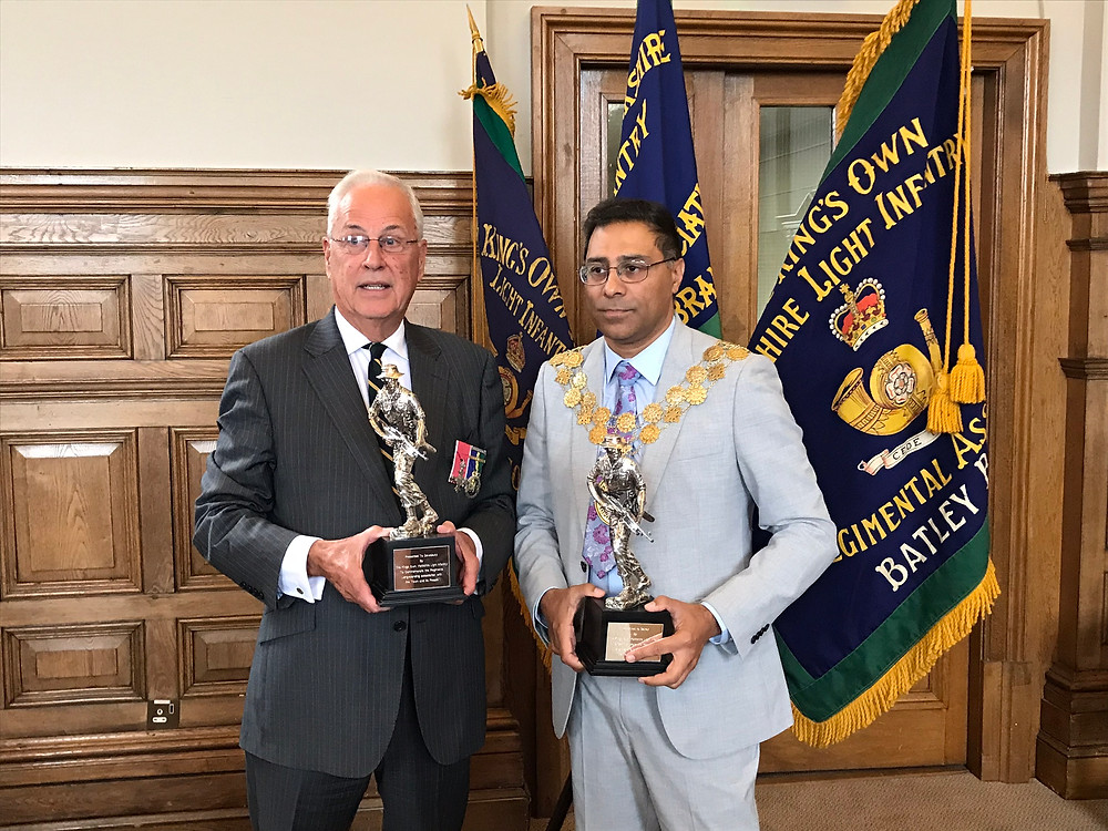 Lt Col Robin Smith and Mayor of Kirklees Cllr MumtazHussain