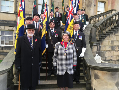 Association Standards on Parade at Nostell Priory Festival of Remembrance