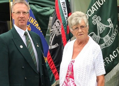 Assn Sec and Grandmother of Rfn Nick Brooks 2 Rifles