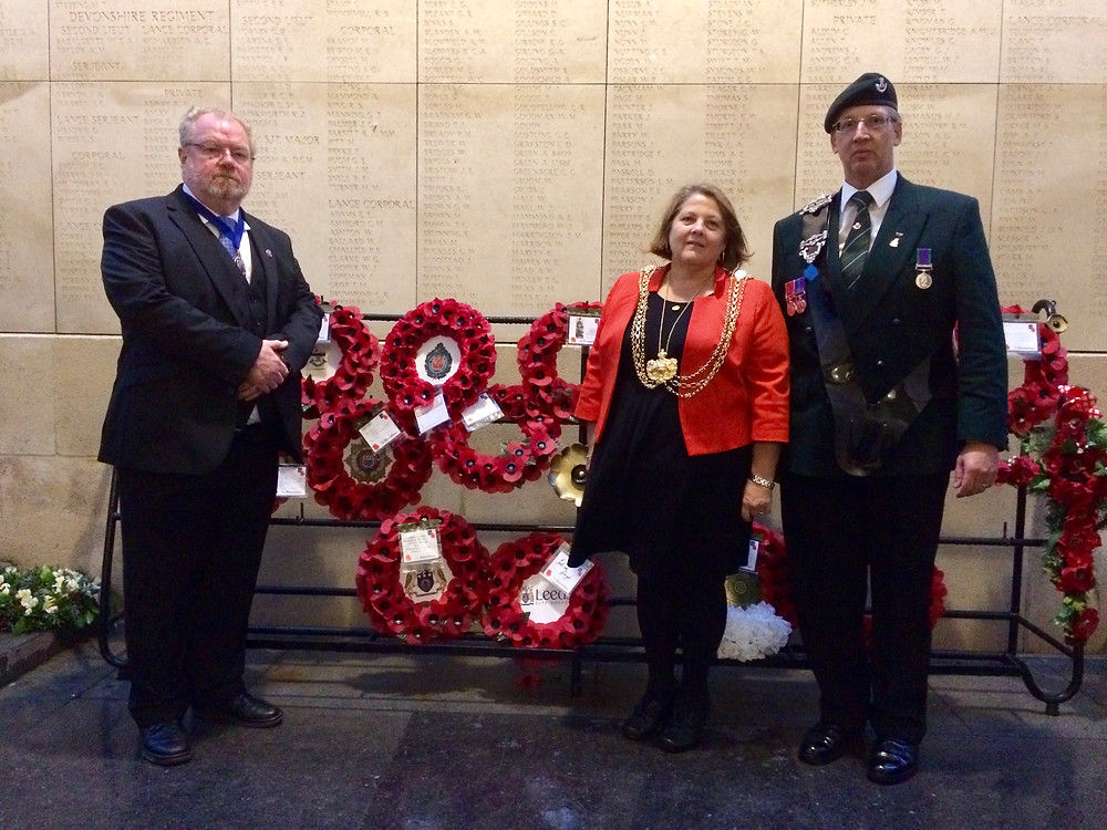 Lord Mayor of Leeds and Colin at Menin Gate Sep 2017