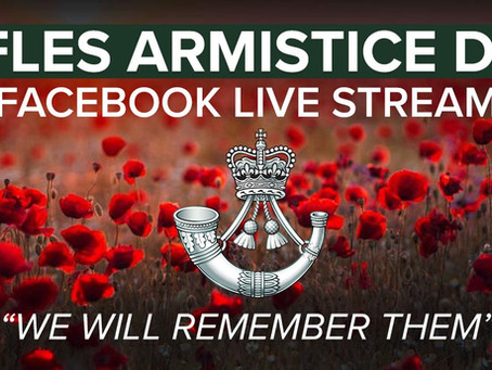 The Rifles virtual Armistice day remembrance event