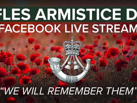 The Rifles virtual Armistice day remembrance event