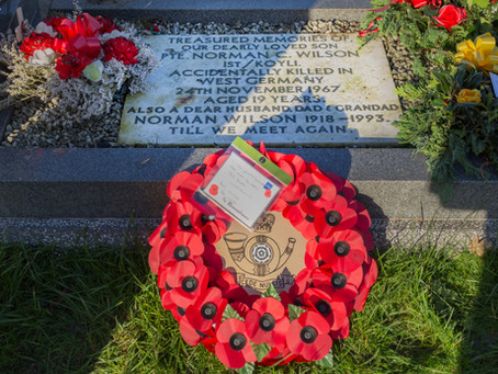 Act of Remembrance for Pte's Wilson and Limb late KOYLI - 24 Nov 2017