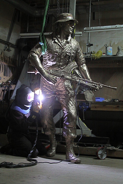 Welding of the KOYLI Memorial Statue