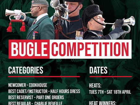 Update - Rifles In This Together, Bugle Competition, A worlds first for FB and British Army.