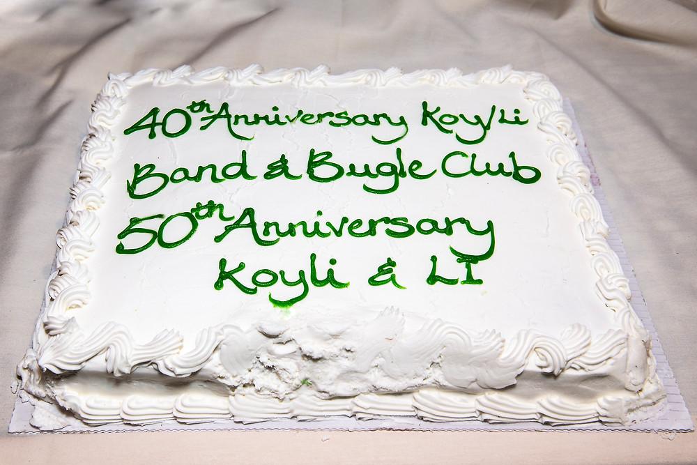 KOY/LI Band and Bugle Club 40th Anniversary Cake