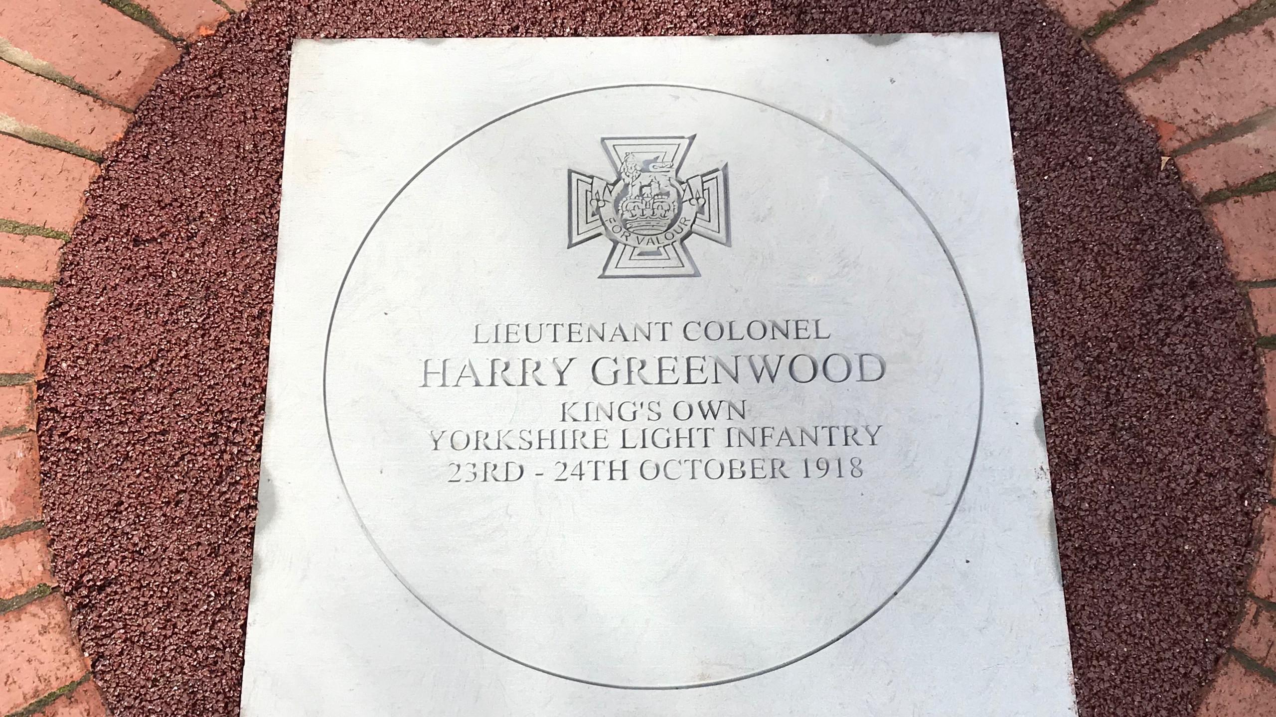Lt Col H Greenwood VC Stone