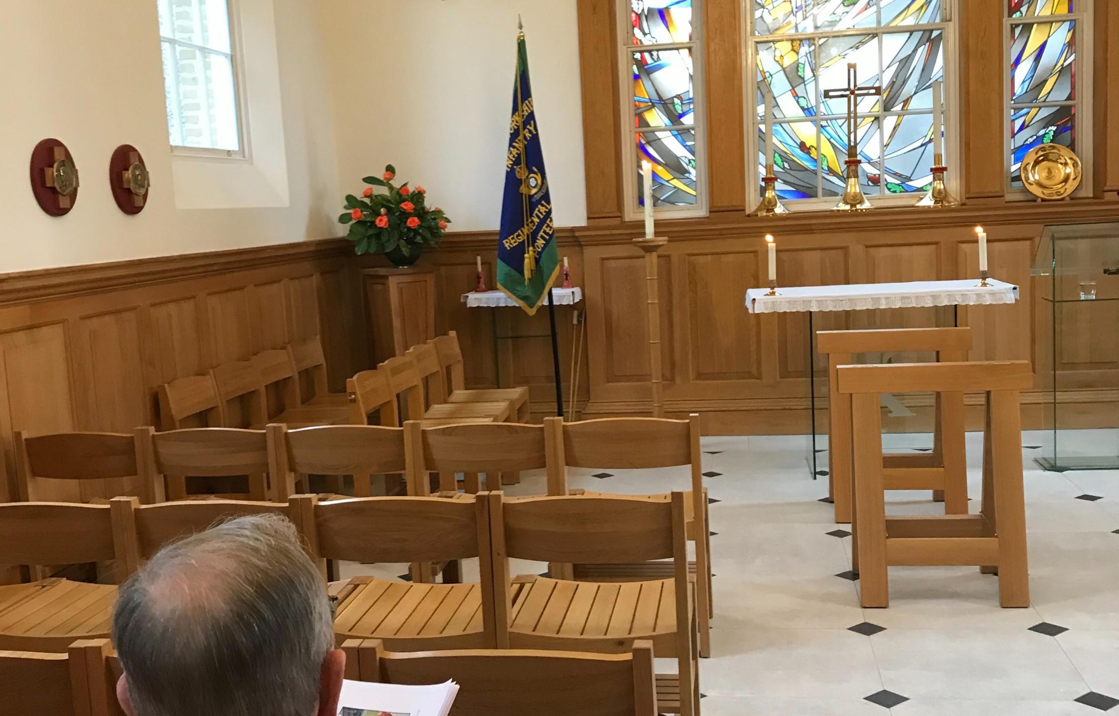 KOYLI Standard in the Chapel at RHC