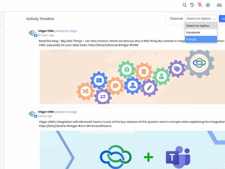 Módulo Vtiger Social: Traga suas interações de mídia social para o seu CRM