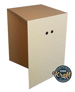 tabouret en carton fabrication studio kraft fabricant de meuble en carton Toulouse et Montauban