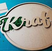 logo en carton réalisation studio kraft fabricant mobilier en carton Toulouse