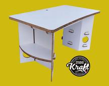 Bureau en carton 140 x 80 cm