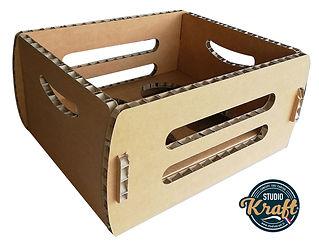 caisse en carton alvéolaire fabrication  STUDIO KRAFT fabricant de packaging en carton sur Toulouse et Montauban