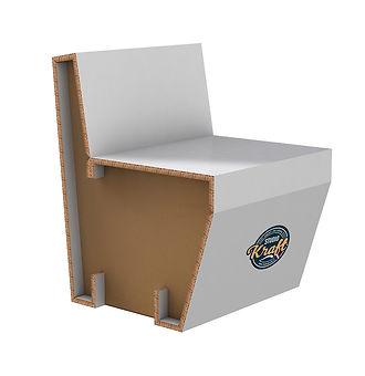 Fauteuil en carton réalisation studio kraft fabricant de mobilier en carton réalisé en France