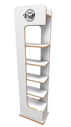 Présentoir ECOLINE réalisation studio kraft fabricant de mobilier en carton sur Toulouse et Montauban