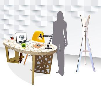 meuble éco-responsable fabriqué en France bureau en carton fabrication studio kraft toulouse