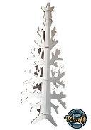 sapin en carton alvéolaire 4 branches hauteur 160cm réalisation studio Kraft en Tarn et Garonne