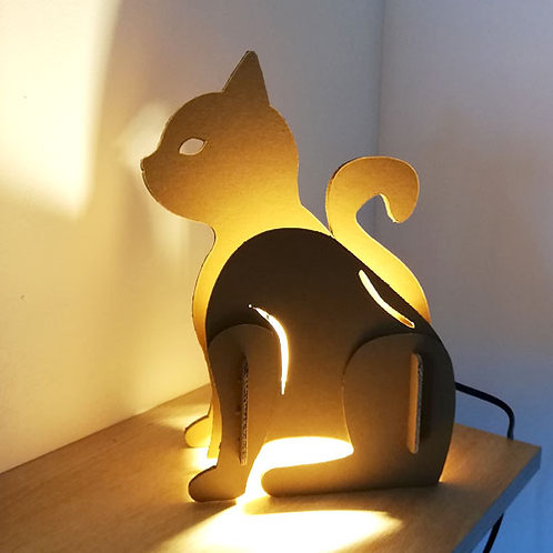Veilleuse chat