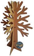 arbre en carton alvéolaire 4 branche. Hauteur 180cm, réalisation STUDIO KRAFT à Montauban