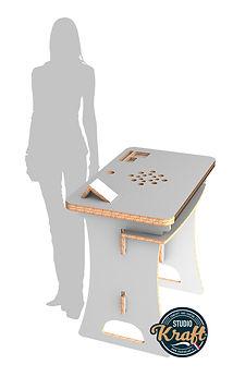 bureau en carton réalisation studio kraft fabricant de meuble en carton sur Toulouse et Montauban