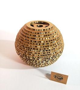 suspension en carton Bubble diamètre 30cm réalisation studio kraft