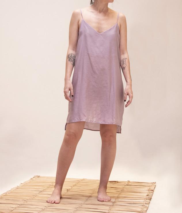 camisola alça lilás