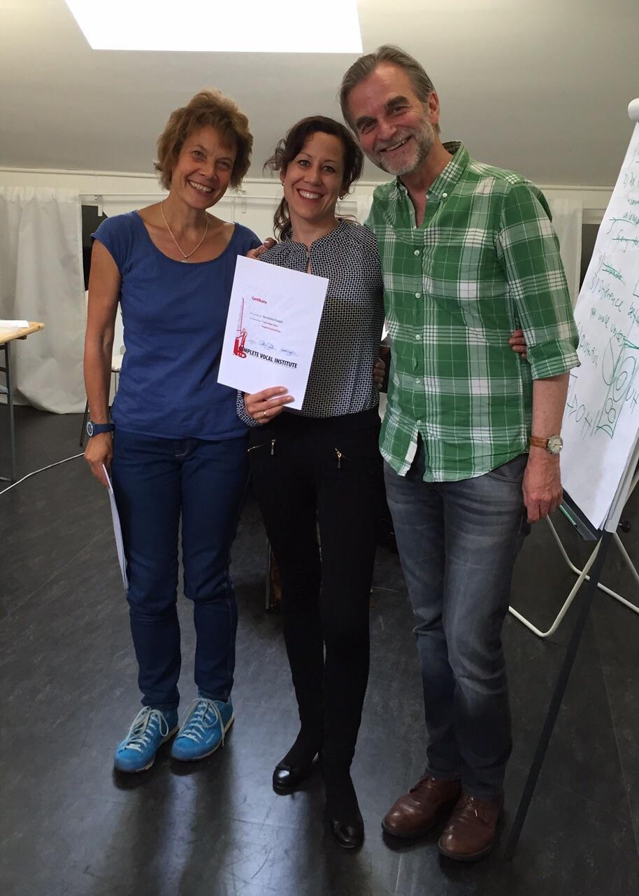 Ann-Kathrin Biagioli mit Ole Rasmus Möller und Martina Bovet