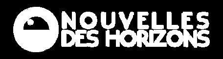 NOUVELLES DES HORIZONS - Logo long Blanc