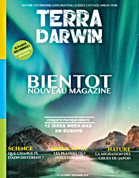 magazine terra darwin, magazine science, magazine voyage, magazine patrimoine, magazine bio