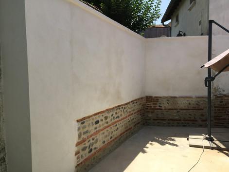 renovation d'un mur toulousain