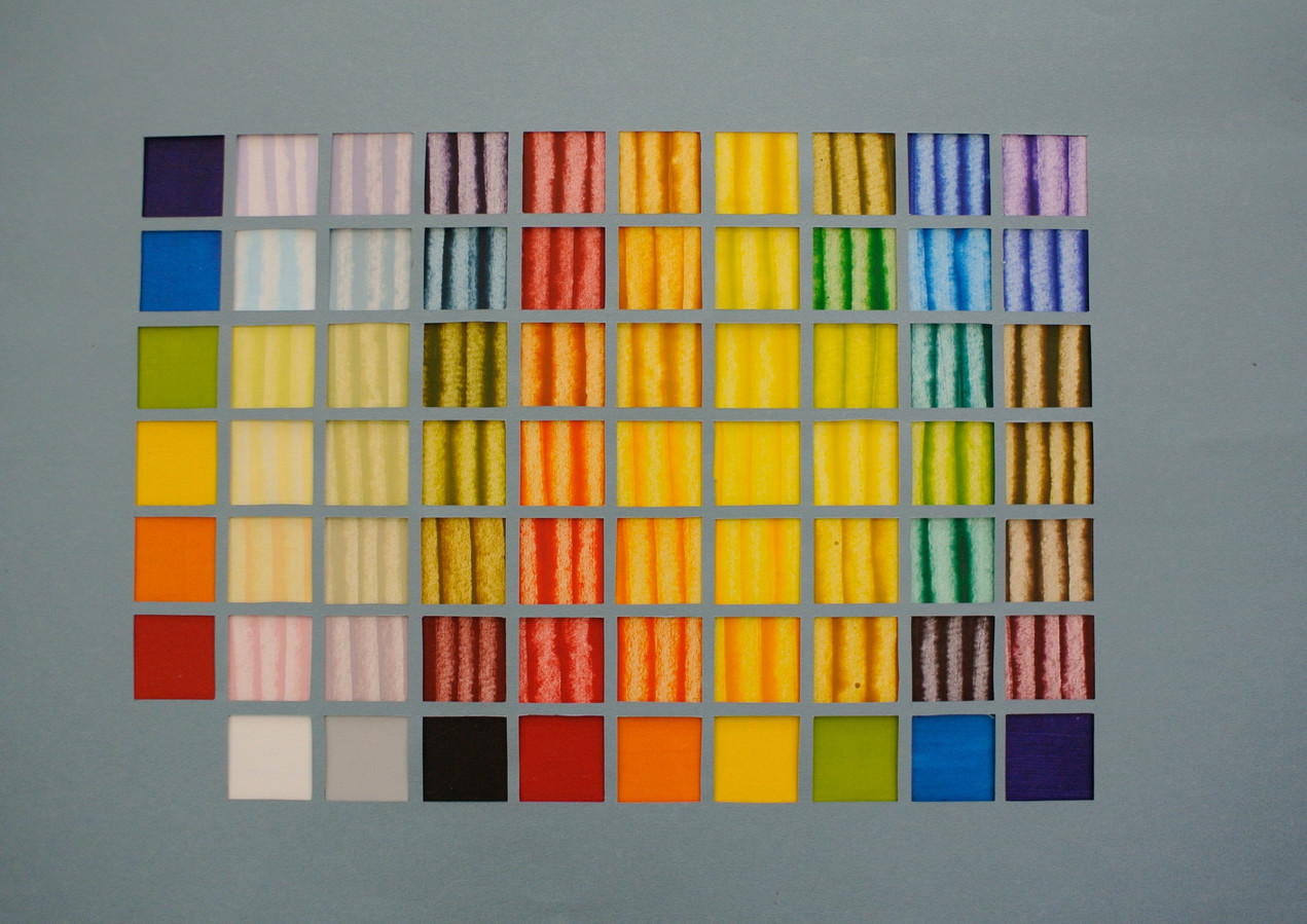 tableau de melange de couleur