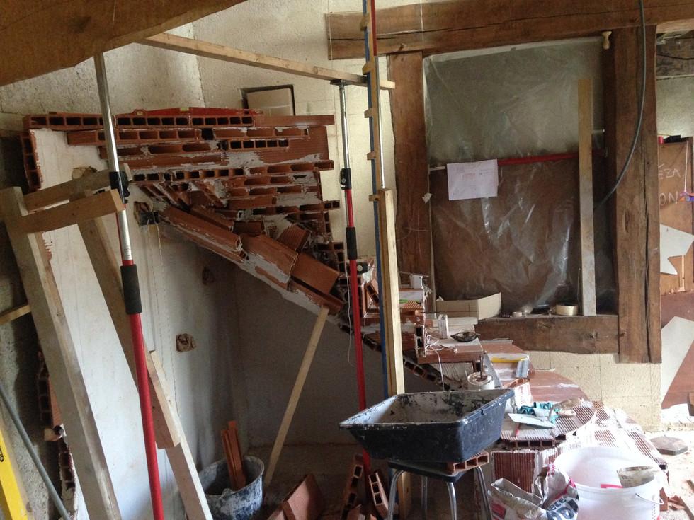 construction escalier sur voute