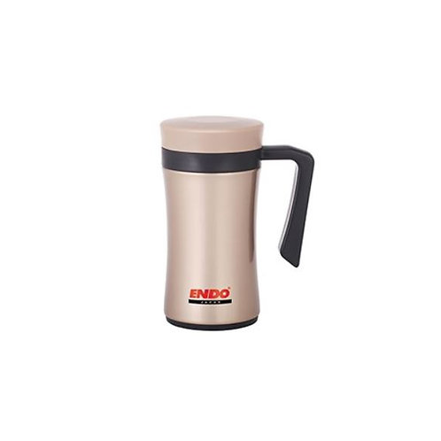 Endo 450ml Desk Mug + Tea Strainer (Champagne Gold)  - CX-3001