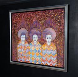 """LOS TRES SANTITOS"" (The three saints) NeoCrotalic Original Artwork"