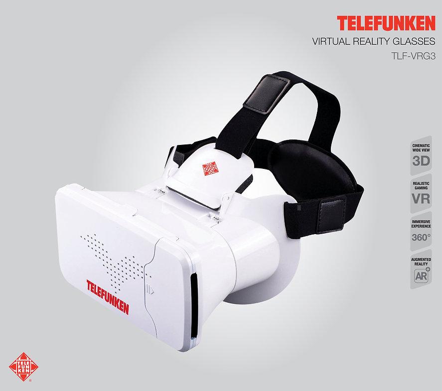 Lentes de Realidad Virtual VR TELEFUNKEN TLF-VRG3