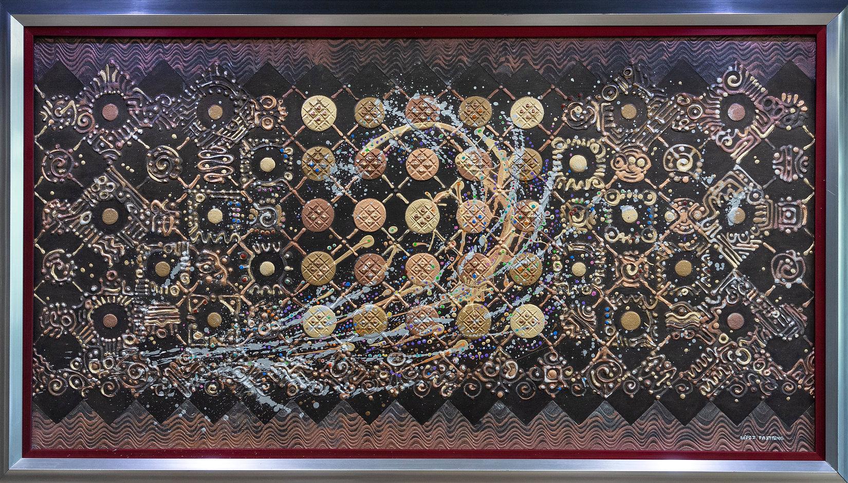 MOVIMIENTO CUANTICO NeoCrotalic Mexican Artwork Original by Javier Lopez Pastrana.JPG