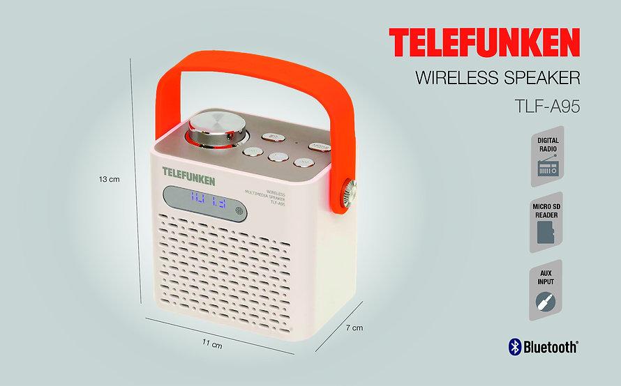 Bocina Bluetooth Telefunken TLF-A95