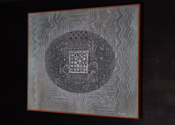 """EL ACERTIJO"" NeoCrotalic Mexican Art Original Artwork 11"