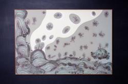 """""""MIGRACION DE LAS ANIMAS"""" (Migration of the spirits) NeoCrotalic Original Artwork 9"""